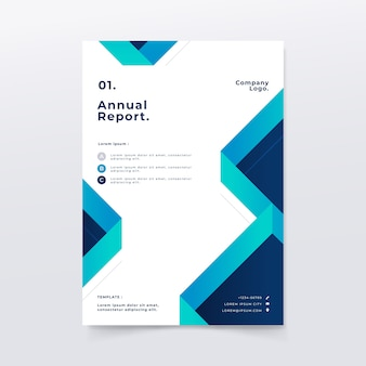 Abstract annual report template with lines