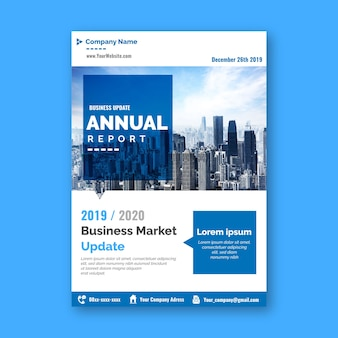 Modello astratto del rapporto annuale con la foto