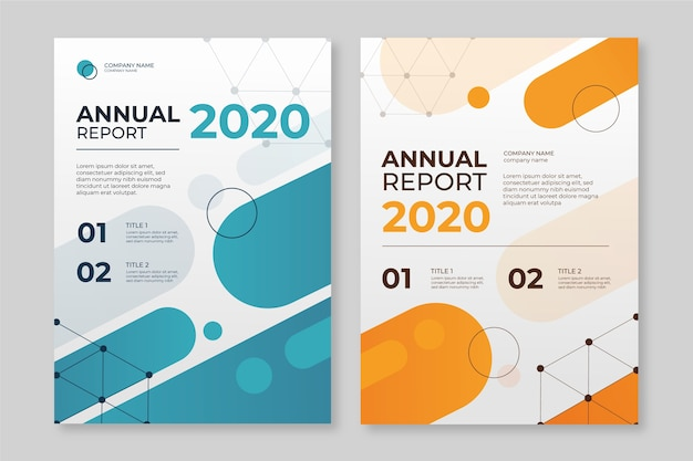 Abstract annual report template with
