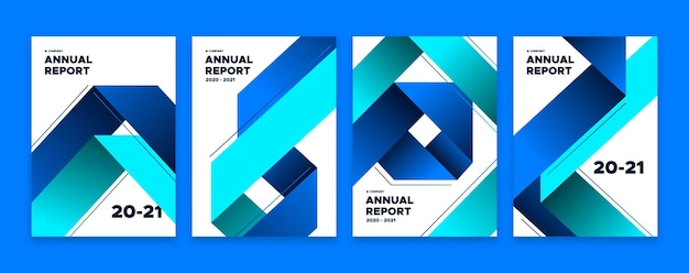 Abstract annual report template