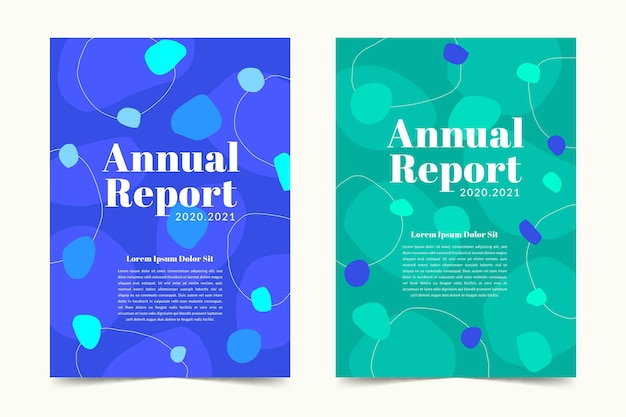 Abstract annual report templates pack