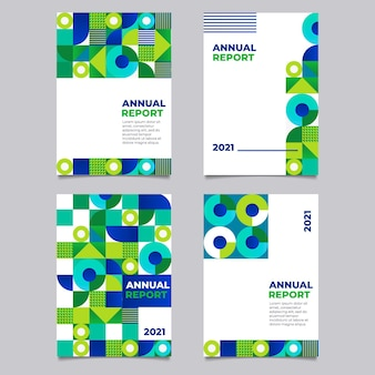 Set di modelli di report annuali astratti