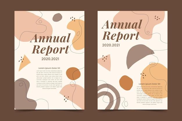 Набор абстрактных шаблонов годового отчета