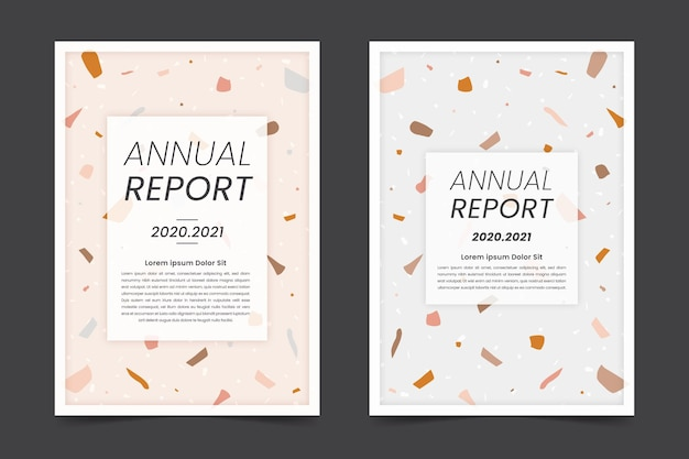 Abstract annual report templates set