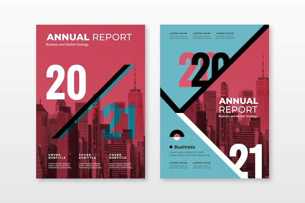 Abstract annual report templates