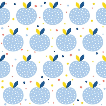 Abstract apple seamless pattern background. childish handmade craft for design card, cafe menu, wallpaper, summer gift album, scrapbook, holiday wrapping paper, textile fabric, bag print, t shirt etc.