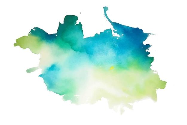 Абстрактная аква-зеленая и синяя акварель всплеск текстуры