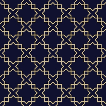 Abstract arabic seamless pattern,dark blue and gold texture