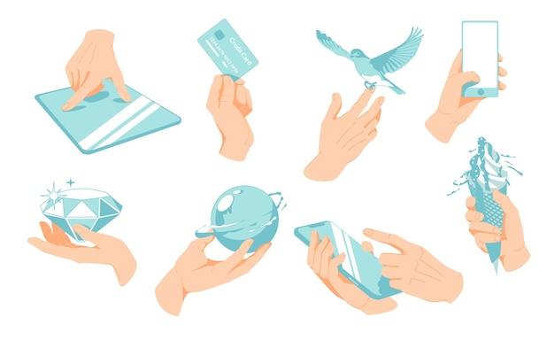 抽象アームアートバナナ鳥の体ブリリアントケア漫画キャラクターコレクションcommunicati