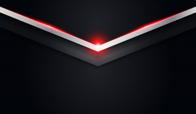 Abstract arrow black metallic background with red shiny line