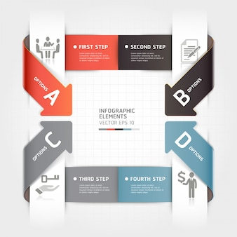 Abstract arrow business infographics template.