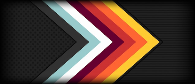 Abstract arrow retro background with colorful stripes