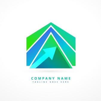 Абстрактный стрелка форма логотип