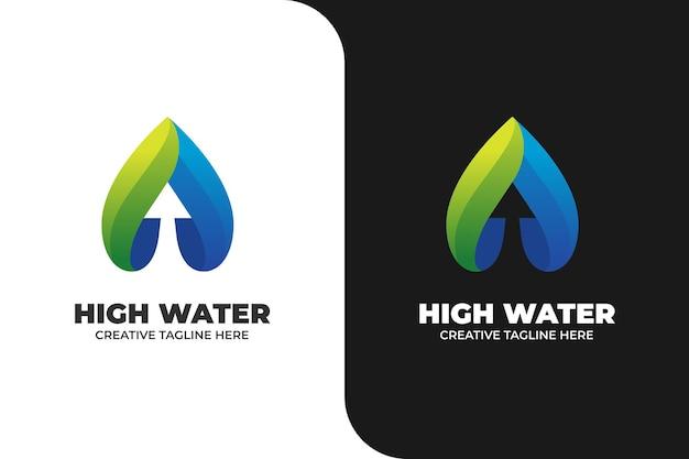 Abstract arrow up gradient logo