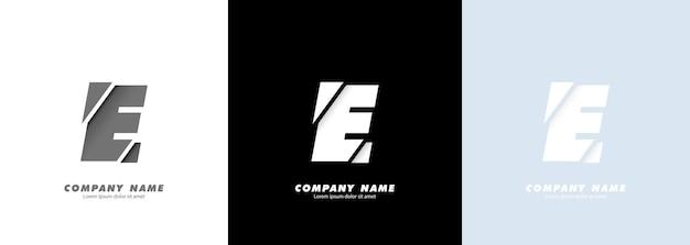 추상 미술 알파벳 문자 e 로고입니다. 깨진 디자인.