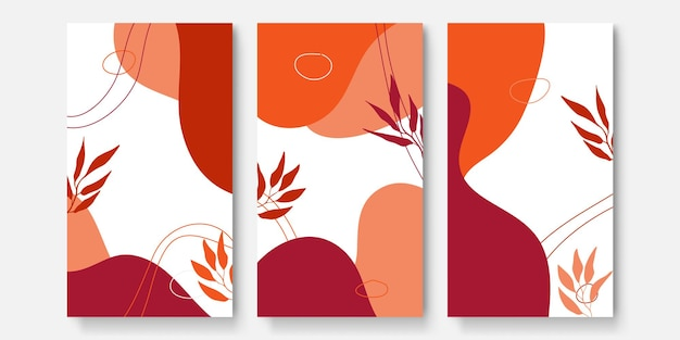 Abstract art background vector. luxury invitation card background with line art flower and botanical leaves, organic shapes