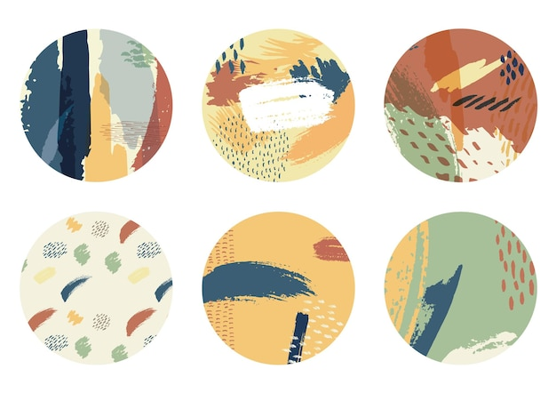 Абстрактное искусство фон с акварель пятно элементы вектора. оформление текстуры мазка кистью с современным дизайном значков.