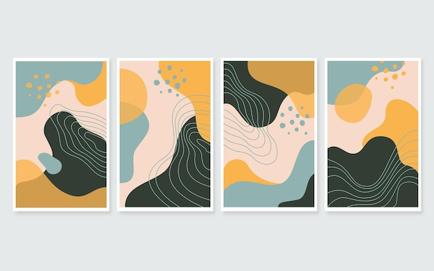 Abstract art cover collection