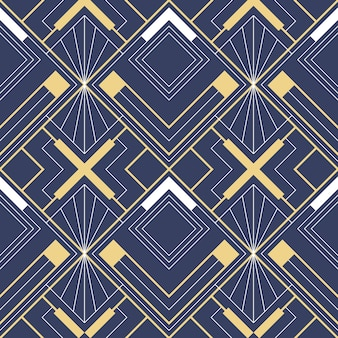 Abstract art deco geometric pattern Premium Vector