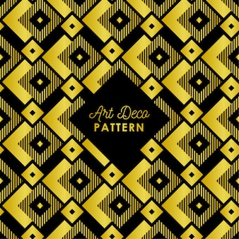 Abstract art deco pattern background in golden gradient color
