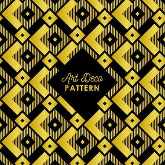 黄金のグラデーションカラーで抽象的なアールデコパターン背景