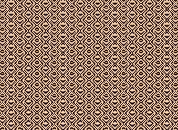 Abstract of art deco round circle pattern background.
