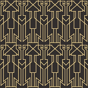 Abstract art deco seamless modern tiles pattern