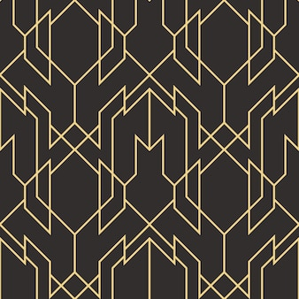 Abstract art deco seamless modern tiles pattern