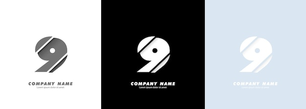 Абстрактное искусство № 9 логотип. сломанный дизайн.