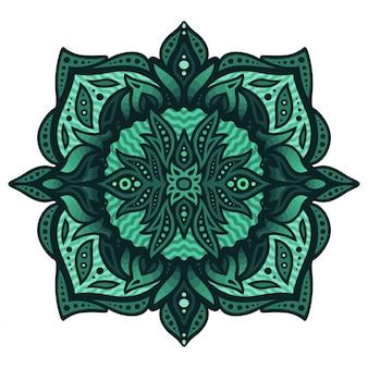Абстрактное искусство с изумрудным цветом водного рисунка