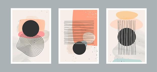 Фон абстрактного искусства с различными формами для украшения стены открытки или обложки брошюры