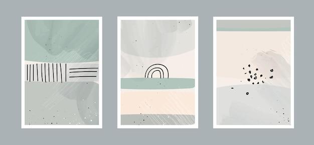 벽 장식, 엽서에 대 한 다른 모양으로 추상 예술 배경.