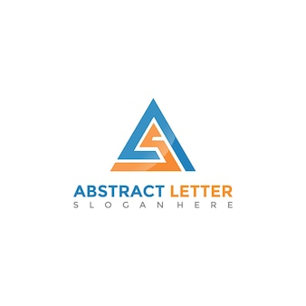 Abstract as letter logo template. vector illustrator eps. 10