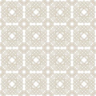 Abstract asian seamless pattern with celtic knots