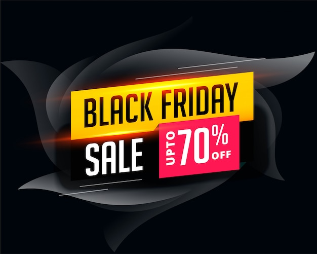 Abstract attractive black friday sale banner