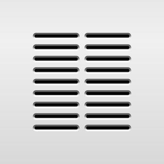 디자인 개념을 위한 천공 그릴 패턴이 있는 동적 추상 오디오 스피커 템플릿