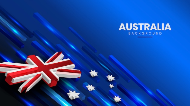 Abstract australian flag background