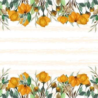 Абстрактный осенний фон с листьями и цветами