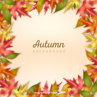 Abstract autumn frame background