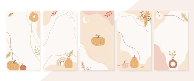 Abstract autumn season stories template