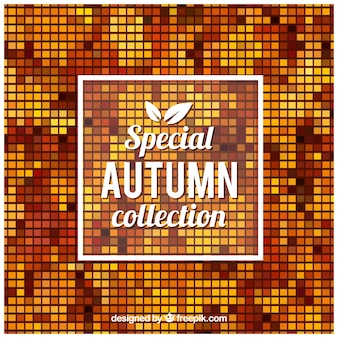 Abstract autumn squares background