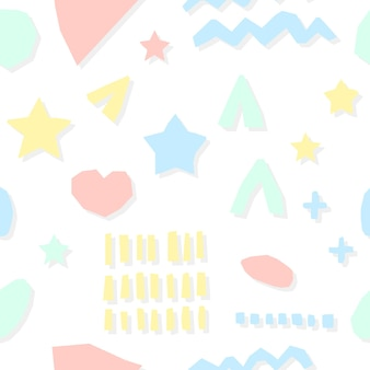 추상 아기 보육 벽지 원활한 패턴 배경