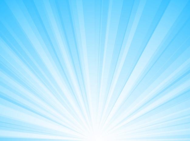 抽象的な背景の青と白の放射状の線の背景