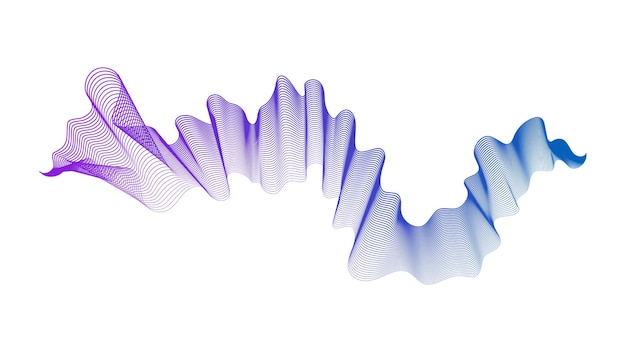 Abstract backdrop with blue and purple wave gradient lines on white background. modern technology background, wave design. vector illustration