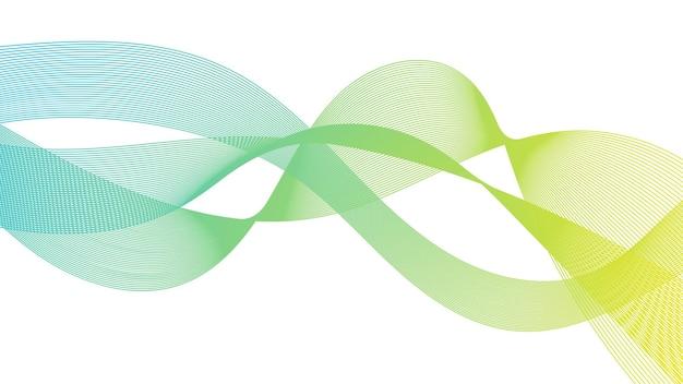 Абстрактный фон с красочными линиями градиента волны на белом фоне. фон современной технологии, дизайн волны. векторная иллюстрация