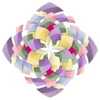 正方形の抽象的な背景