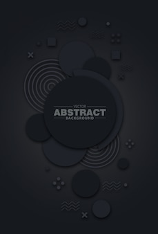 Abstract background 3d circle black
