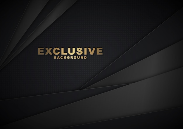 Abstract background 3d shape black