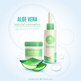 Abstract background of aloe vera products