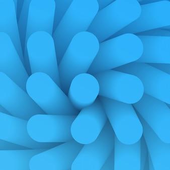 抽象的な背景。渦の視点で背景要素。滑らかなグラデーションチューブの壁紙。医学様式の青い構造絨毛。